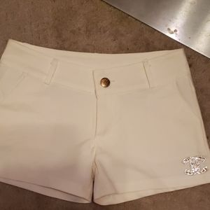 Chanel shorts white small